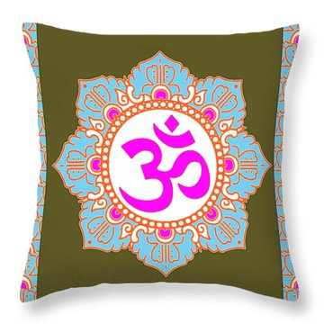 Throw Pillow featuring the photograph Om Mantra Ommantra 3 by Navin Joshi
