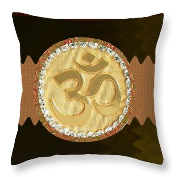Om Mantra Ommantra Hinduism Symbol Sound Chant Religion Religious Genesis Temple Veda Gita Tantra Ya Throw Pillow by Navin Joshi