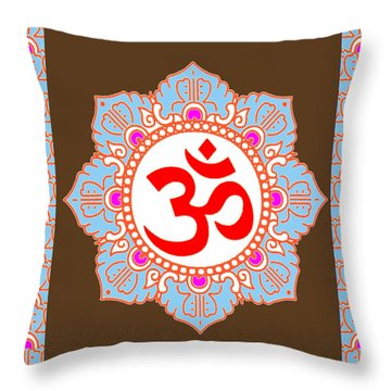 Throw Pillow featuring the photograph Om Mantra Ommantra by Navin Joshi