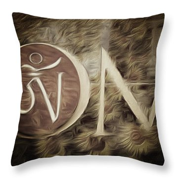 Throw Pillow featuring the photograph Om Sepia by Cindy Greenstein