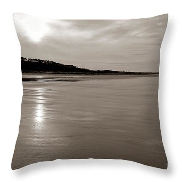 Omaha Beach Throw Pillow by Olivier Le Queinec