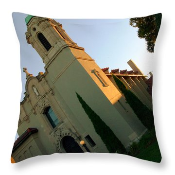 Throw Pillow featuring the photograph Omaha Church by Jeff Lowe