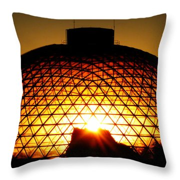 Throw Pillow featuring the photograph Omaha Henry Doorly Zoo by Jeff Lowe