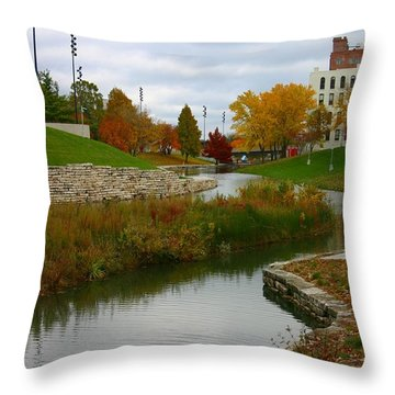 Throw Pillow featuring the photograph Omaha In Color by Elizabeth Winter