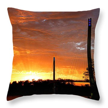 Throw Pillow featuring the photograph Omaha Sunrise by Jeff Lowe