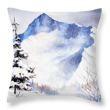 Throw Pillow featuring the painting O'malley Peak by Teresa Ascone