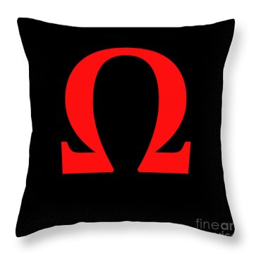 Omega Throw Pillow by Bruce Stanfield