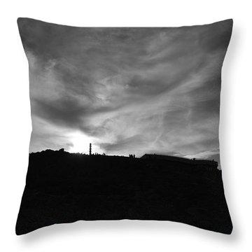 Ominous Sky Over Mt. Washington Throw Pillow