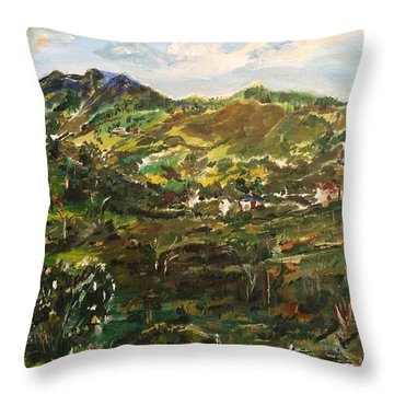 On A Clear Morning Throw Pillow