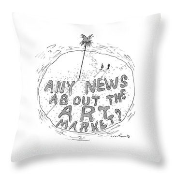 On A Desert Island Throw Pillow