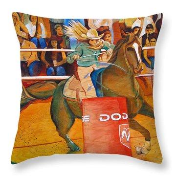 On A Dime Throw Pillow by Joshua Morton