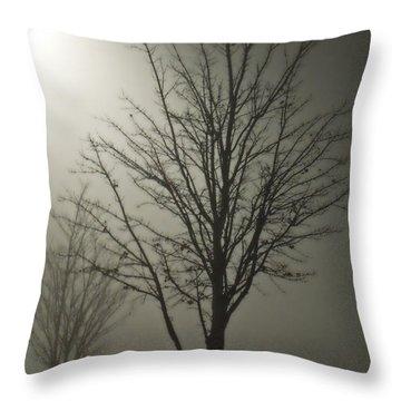 On A Foggy Night Throw Pillow
