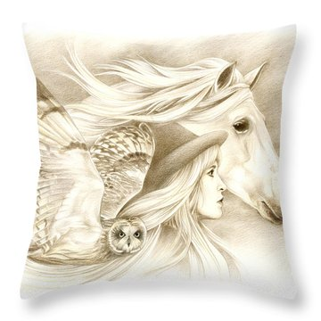 On A Journey... Throw Pillow