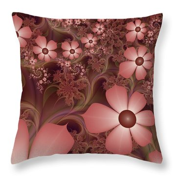 Throw Pillow featuring the digital art On A Summer Evening by Gabiw Art