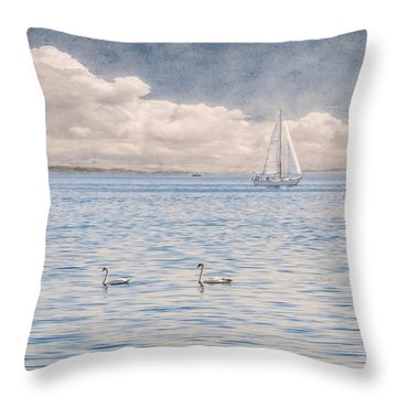On A Summer's Breeze Throw Pillow