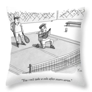 On A Tennis Court Throw Pillow