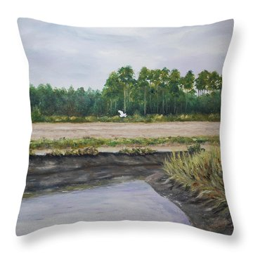 On A Tidal Creek Throw Pillow