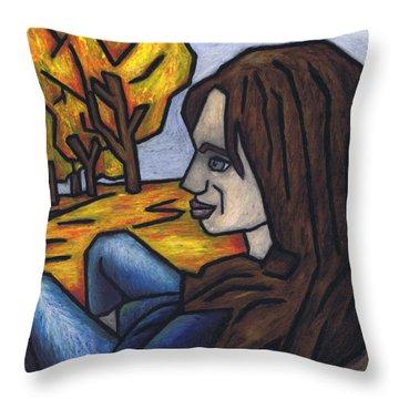 On A Warm Autumn Day Throw Pillow by Kamil Swiatek