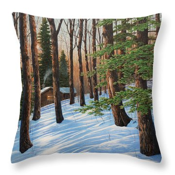 On A Winter's Morn Throw Pillow