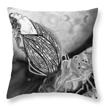 Throw Pillow featuring the digital art On Becoming by Carol Jacobs