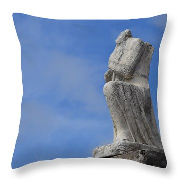 Throw Pillow featuring the photograph On Bended Knee - Color by Nadalyn Larsen