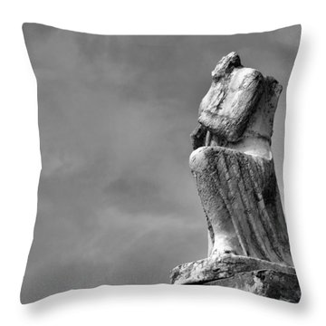 Throw Pillow featuring the photograph On Bended Knee In Black And White by Nadalyn Larsen