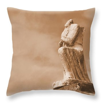 Throw Pillow featuring the photograph On Bended Knee by Nadalyn Larsen
