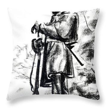 On Duty In Brigadoon  No Ch101 Throw Pillow
