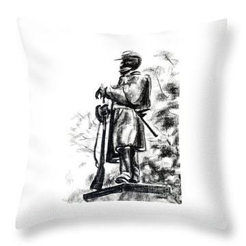 On Duty In Brigadoon  No Ch101 Throw Pillow