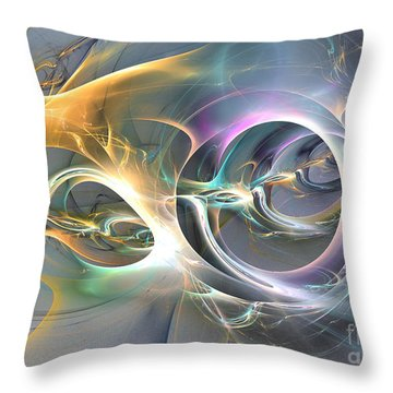 On Fire - Abstract Art Throw Pillow