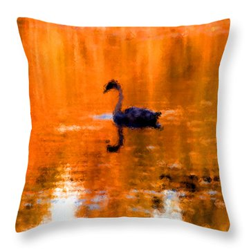 On Golden Pond Throw Pillow by Jack Gannon