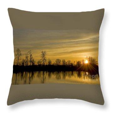 On Golden Pond Throw Pillow by Nick  Boren