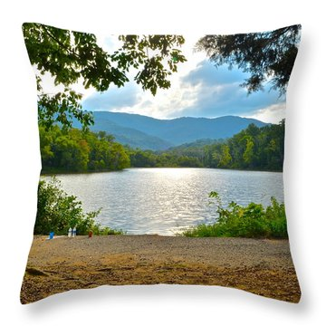 On Golden Pond Throw Pillow by Frozen in Time Fine Art Photography