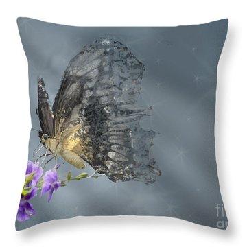 On Gossamer Wings Throw Pillow