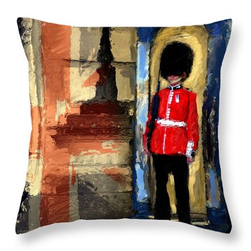 On Guard For Thee Throw Pillow