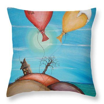 On Holiday Throw Pillow
