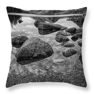 On Jordan Pond Throw Pillow