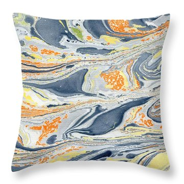 Throw Pillow featuring the painting On Mount Doom by Menega Sabidussi