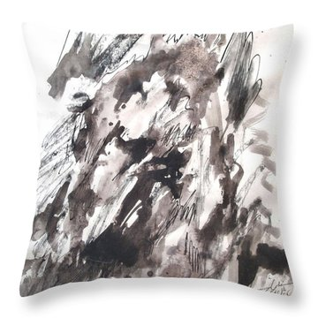 On Mount Sinai Throw Pillow by Esther Newman-Cohen