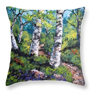 On My Way  Throw Pillow by Megan Walsh