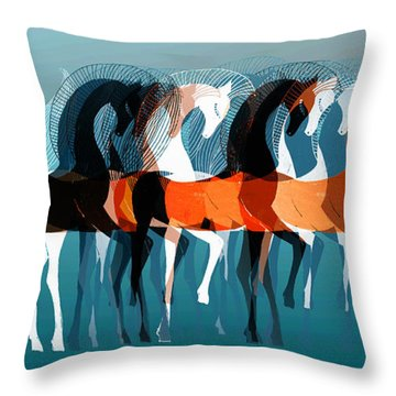 On Parade Throw Pillow by Stephanie Grant