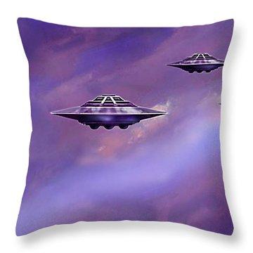 Sky  Patrol Throw Pillow by Hartmut Jager