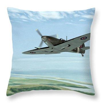 On Patrol Throw Pillow by John Edwards