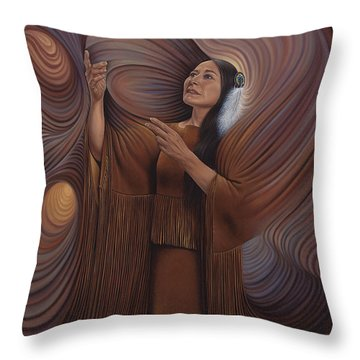 On Sacred Ground Series V Throw Pillow