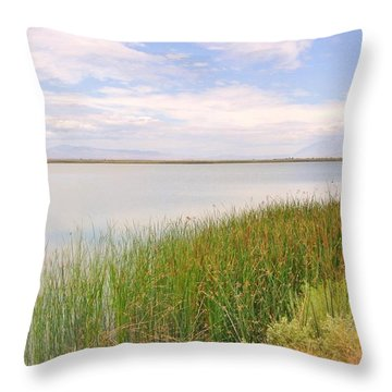 Throw Pillow featuring the photograph On Shore by Marilyn Diaz