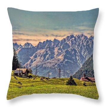 On The Alp Throw Pillow