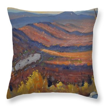 View From The Cobbles Throw Pillow