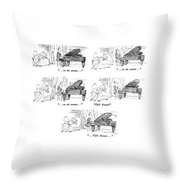 ...on The Avenue... ...on The Avenue... ...on Throw Pillow