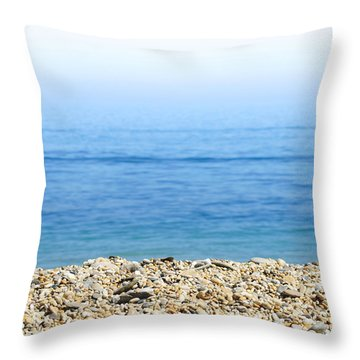 On The Beach Throw Pillow by Chevy Fleet