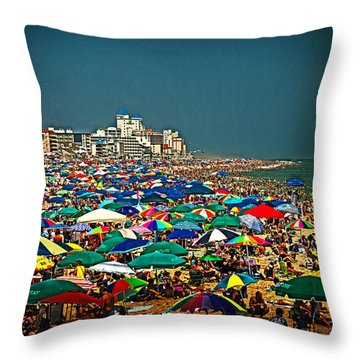 On The Beach In August Throw Pillow